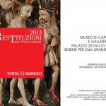 """Mostre """"Le Restituzioni"""" 2013 – Museo di Capodimonte"""